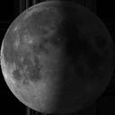 Остання чверть Місяця </br>(спадаюче півколо)